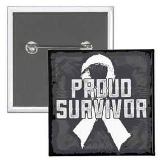 Bone Cancer Proud Survivor Pinback Buttons