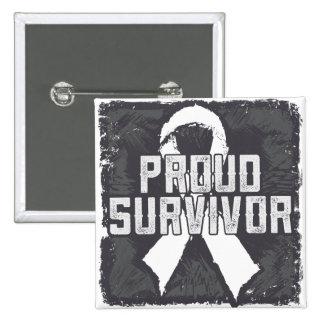 Bone Cancer Proud Survivor 15 Cm Square Badge