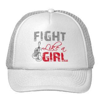 Bone Cancer Ribbon Gloves Fight Like a Girl Trucker Hat
