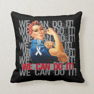 Bone Cancer Rosie WE CAN DO IT Pillow