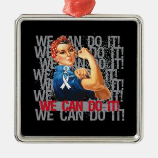 Bone Cancer Rosie WE CAN DO IT Ornament