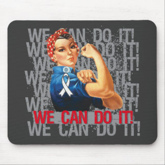 Bone Cancer Rosie WE CAN DO IT Mousepad