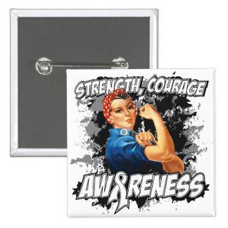 Bone Cancer Strength Courage 15 Cm Square Badge