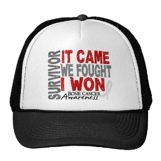 Bone Cancer Survivor It Came We Fought I Won Hats