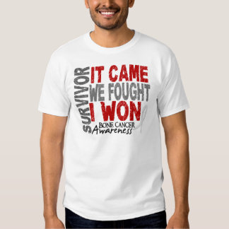 Bone Cancer Survivor It Came We Fought I Won Tee Shirt