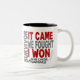 Bone Cancer Survivor It Came We Fought I Won Two-Tone Mug