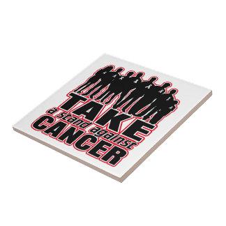 Bone Cancer -Take A Stand Against Cancer Ceramic Tiles
