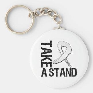 Bone Cancer Take A Stand Basic Round Button Key Ring
