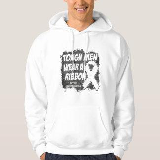 Bone Cancer Tough Men Wear A Ribbon Pullover