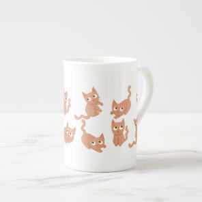Bone china cat mug