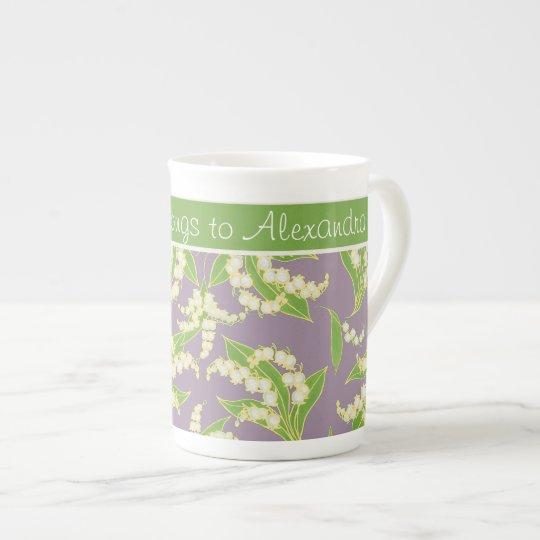 Bone China Coffee Mug: Lilies of the Valley,
