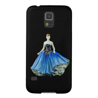 Bone China Figurine wearing a Blue Dress Galaxy S5 Cases