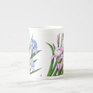 Bone China Mug - Floral Iris Design