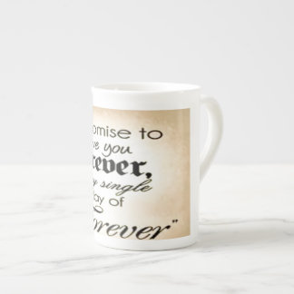 Bone China Mug off white image text