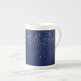 Bone China Mug-Petite Stars Midnight Tea Cup