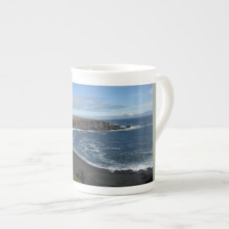 Bone China Mug With Icelandic Beach Image