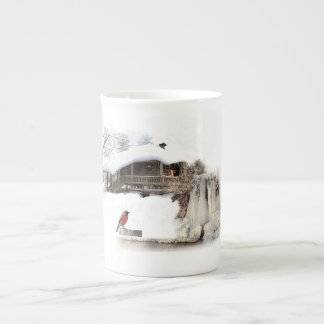 Bone China Mug with robin design