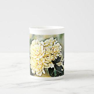 """Bone China Mug """"Yellow Flower Clusters"""""""
