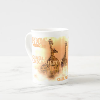 Bone China Unique Giraffes Mug