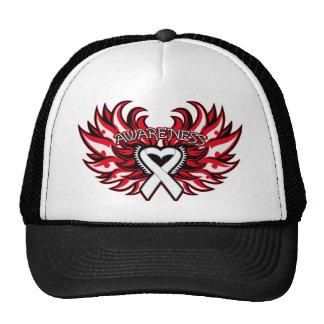 Bone Disease Awareness Heart Wings Hat