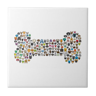 BONE Dog Cartoon Tile