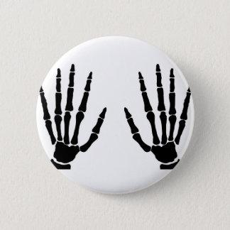 Bone Hands Isolated 6 Cm Round Badge