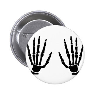 Bone Hands Isolated 6 Cm Round Badge