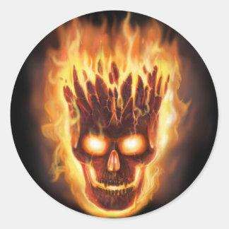 Bone head Explodes Round Sticker