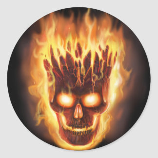 Bone head Explodes Round Sticker