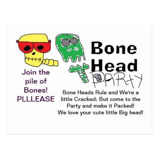 Bone Head Party Invites Postcard