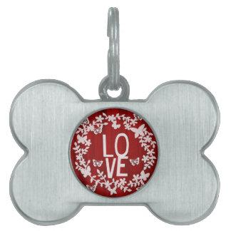 Bone love pet tag