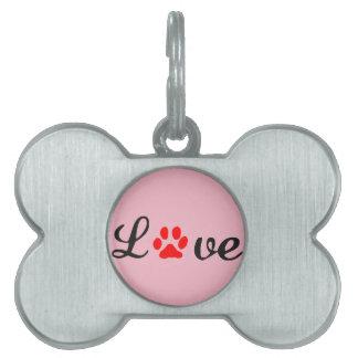 Bone Pet Tag love dog