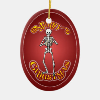 Bone Playing Skeleton Personalized Ornament