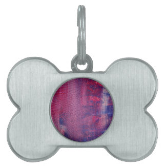 Bone tag with purple surface