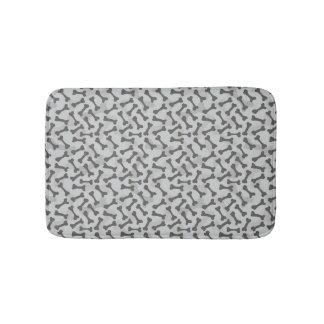 Bone Texture Pattern Greyscale Bath Mat