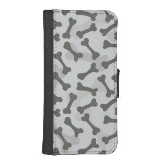 Bone Texture Pattern Greyscale iPhone SE/5/5s Wallet Case