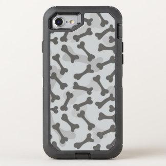 Bone Texture Pattern Greyscale OtterBox Defender iPhone 7 Case