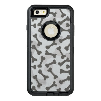 Bone Texture Pattern Greyscale OtterBox iPhone 6/6s Plus Case