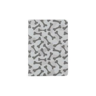 Bone Texture Pattern Greyscale Passport Holder