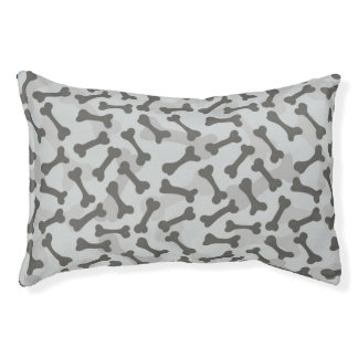 Bone Texture Pattern Greyscale Pet Bed