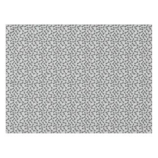 Bone Texture Pattern Greyscale Tablecloth