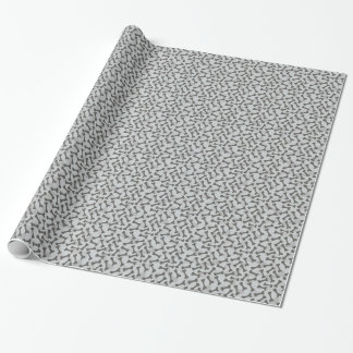 Bone Texture Pattern Greyscale Wrapping Paper