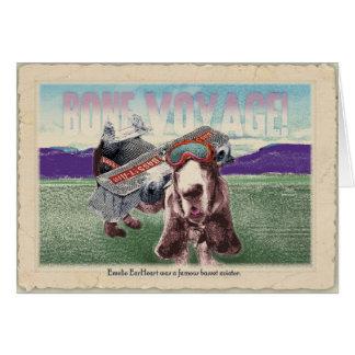 Bone Voyage!: Basset travel greetings Stationery Note Card