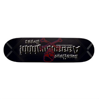 BoneHead Aaaauuughhh! Moves-Oh Oh Black BoneHead! Skateboard Deck