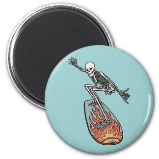 Bonehead Board Dude 6 Cm Round Magnet
