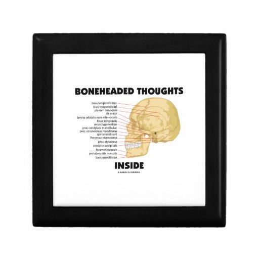 Boneheaded Thoughts Inside Jewelry Box