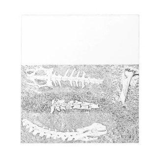 Bones Coloring Project DIY Adult Coloring Notepad