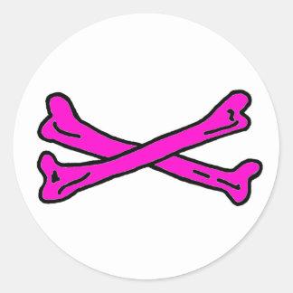 Bones Magenta The MUSEUM Zazzle Gifts Round Sticker