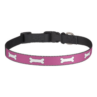 Bones Mulberry Cool Color Complementing Pet Collar