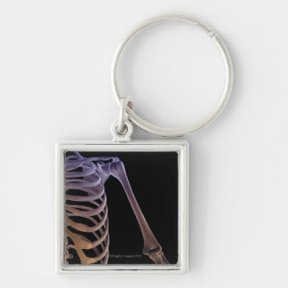 Bones of the Shoulder Silver-Colored Square Key Ring